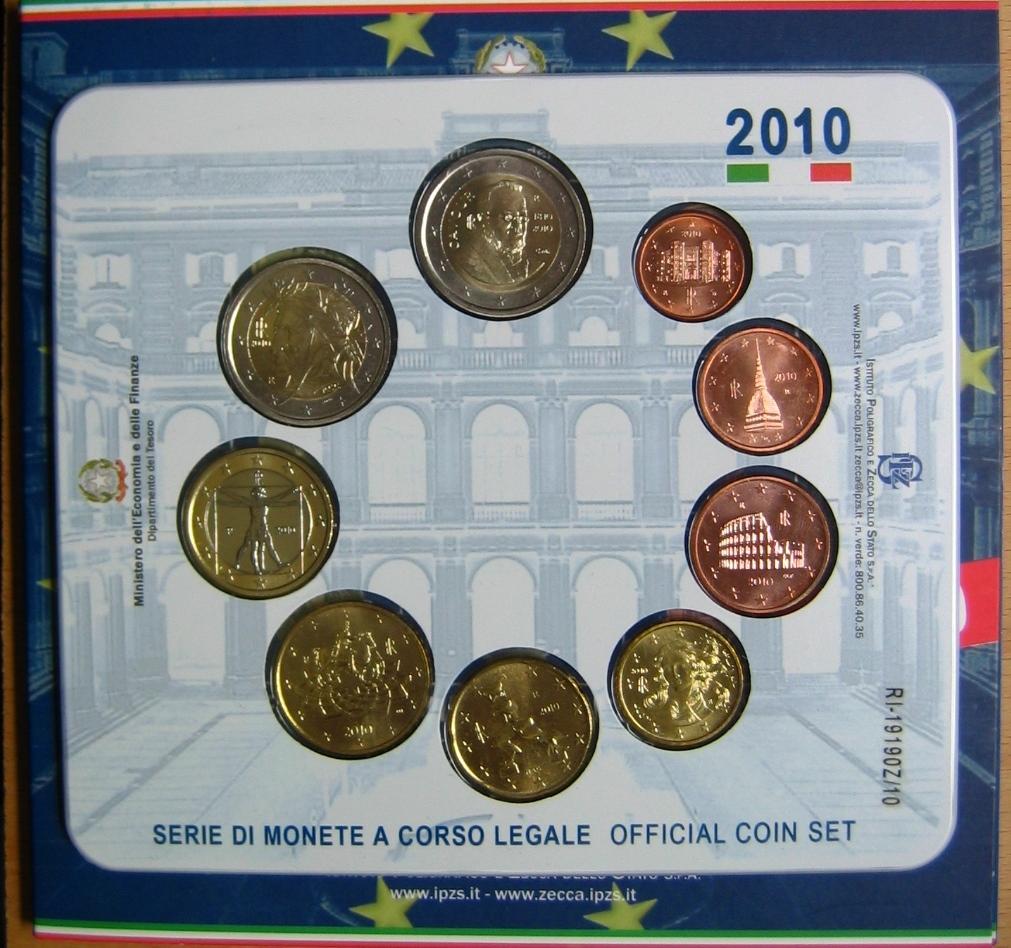 3,88€ 2010 Italien Original Kursmünzensatz stgl