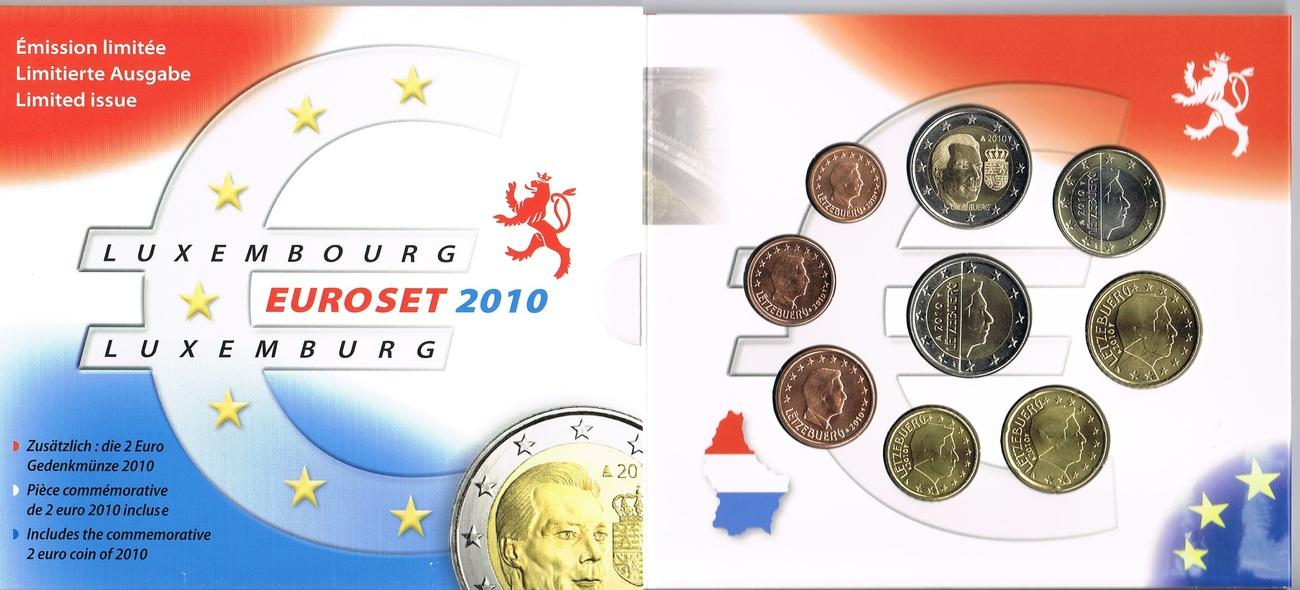 5,88€ 2010 Luxemburg Original Kursmünzensatz stgl