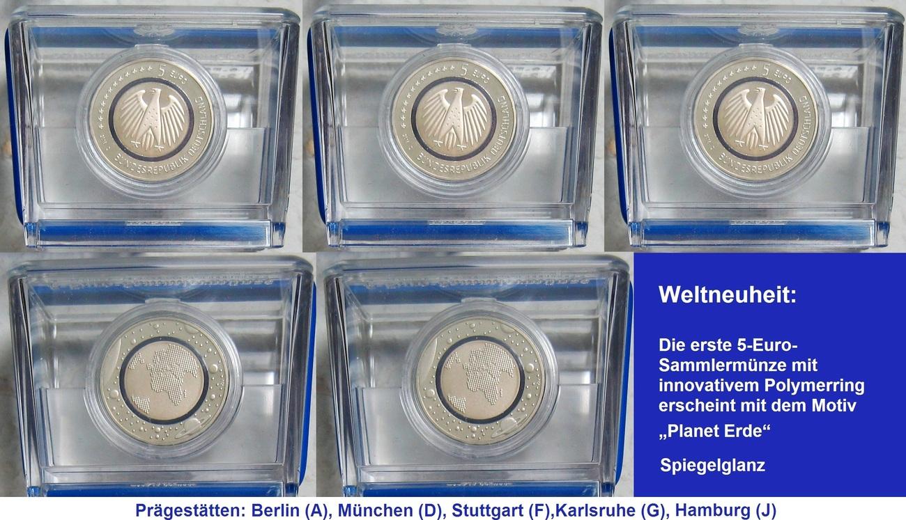 25 € 2016 Deutschland BLAUER PLANET ERDE Spiegelglanz