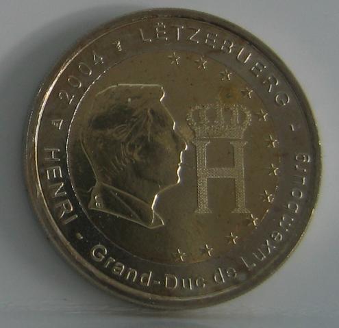 2€ 2004 Luxemburg Gedenkmünze Herzog Henri prägefrisch