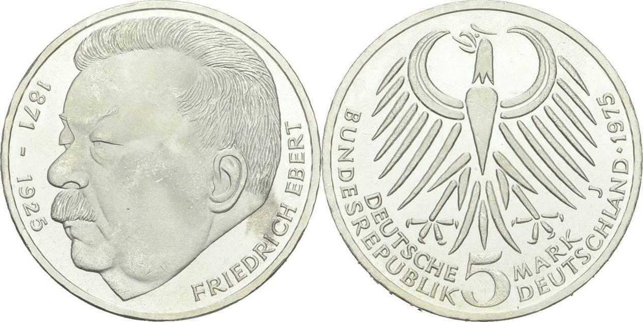 5 Deutsche Mark 1975 Deutschland Deutschland 5 Mark 1975 J Hamburg