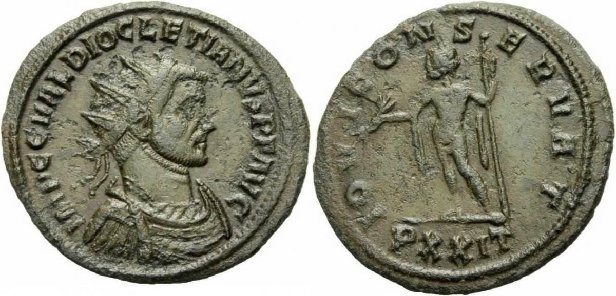Römische Kaiserzeit, Diocletianus, Antoninian 284-295, ss+