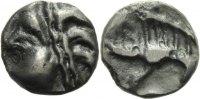 Kelten Potin Kelten Leuci Gallien Potin Tete d'Indien Locken Eber Mittelgallien Castellin 581