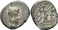 Rom Kaiserreich Quinar Augustus Quinar Carisius Emerita 25-23 P CARISI LEG Victoria Tropaeum RIC 1a
