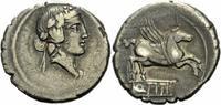 Denar 90 v. Chr. Rom Republik Titius Denar Rom 90 v. Chr. Liber Efeukra... 140,00 EUR  zzgl. 5,00 EUR Versand